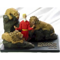 Daniel In the Lion's Den - Color (Scripture in Chinese)