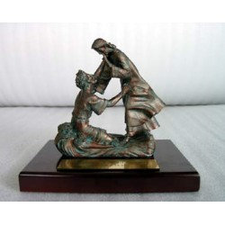 Walking on Water - Bronze (Scripture in Chinese)