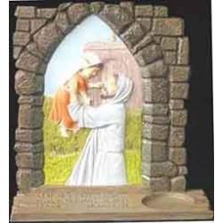 Jesus With Child, Candle Holder, orange dress