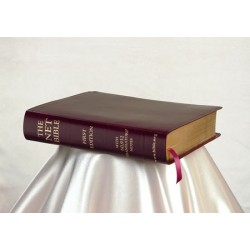 <font size=2>NET Bible Burgundy Leather (First Edition) with cd</font>