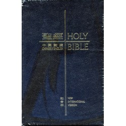 Holy Bible – CUV/NIV New Standard Size Black Leather Thumb Indexed (Traditional Chinese Edition)