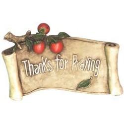 Thanks for Praying